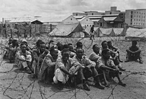 Mau Mau in a concentration camp (lager) organized by the British